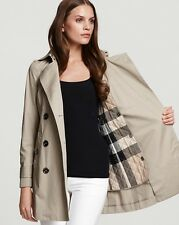 Burberry Brit Balmoral Classic  Trench Coat Jacket size 8 (EU42) NEW