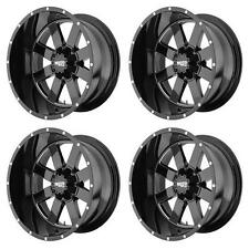 MOTO METAL MO962 20X12 -44MM OFFSET 8X6.5 G-BLACK MACH MO96221280344N SET OF 4
