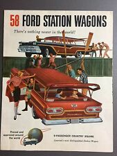 1958 Ford Station Wagons Showroom Advertising Sales Brochure Awesome RARE!! L@@K