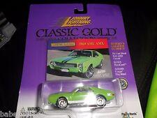 Johnny Lightning Classic Gold 1969 AMC AMX 69 American Motors Realriders green