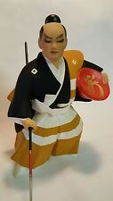 Japanese Genuine Hakata Doll Clay Samurai Figurine