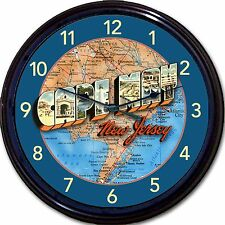 Victorian Cape May NJ - Large Letter Postcard Map- Wall Clock- Jersey Shore New!