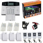 GSM SMS Wireless&Wired Voice Home House Alarm Security System gas detector