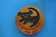 Lion King WalnutWood Remember Who You Are Magnet American Made/ Homemade