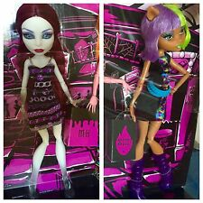 NEW Monster High Doll Maul Monsteristas Lot Of 2 Spectra Clawdeen Wolf RARE HTF