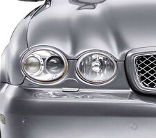 NEW Chrome HEAD LIGHT Rings Surrounds Covers Trims for Jaguar X Type X400 01-11