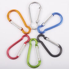 8PCS Camping Outdoor Aluminum Alloy D Screw Lock Carabiner Clip Hook Key Chain