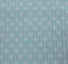 Snuggle Buddies Stacey Yacula Quilting Treasures BTY Aqua Polka Dot Stripe