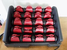 Remington H9096 Red Silk Ceramic Heated Clip Setter 1 1/4 Inch Hair Curlers