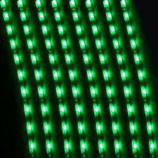 5PCS 15LEDS 30cm Car Motor Vehicle Flexible Waterproof Strip Light Green 12V