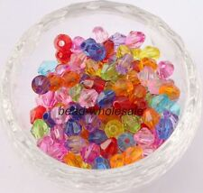 500pcs 4-6mm Faceted Bicone Crystal Glass Loose Beads U Pick color Wholesale!