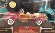 1946 Ford Sportsman 1:18 Road Signature maroon real wood panel & leather seats