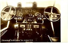 Cartolina Aviazione - Cabina Da Bordo (Piloti) Aereo Junkers G 31 Luft-Hansa - N