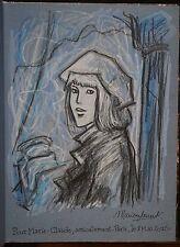 A l'Ombre des murs. Marion Laurent et Leroux. Avec un dessin signé de M. Laurent