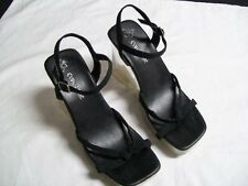 Club Zone Womens Shoes Black with Lucite Platforms & Heels Size 7 Worn Twice