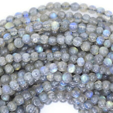 "3mm grey labradorite round beads 13"" strand"