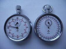 2 MILITARY POCKET WATCH STOP WATCHES BOTH SWISS 7 JEWELS 1 CWC SEE PICTURES