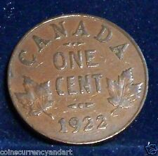 Canada 1922  Small Cent -FREE SHIPPING