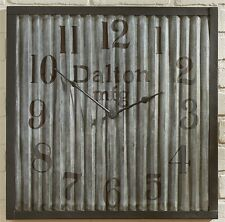 GALVANIZED METAL WALL CLOCK By PARK DESIGNS