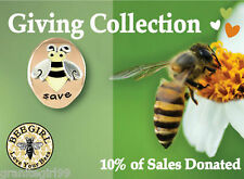 Save Honey Bees Lapel Pin Tie Tack Gift Boxed 10% Donated Far Fetched Mima & Oly