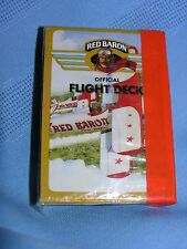 Sealed 1992 Official Flight Deck Red Baron Pizza Aviator Playing Cards Poker USA