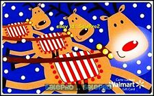 WALMART CHRISTMAS FLYING REINDEERS #FD29412 COLLECTIBLE GIFT CARD