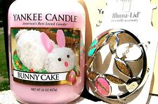 "Yankee Candle ""BUNNY CAKE""  22 oz &  COTTONTAILS GOLDEN EGGS ILLUMALID NEW!"