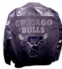 CHICAGO BULLS BY J. H. DESIGN JACKET /  MEN'S Sz XL / Fabric / Leather / NBA