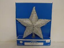 9 IN LED Silver Star Cool White Illuminated Tree Topper Christmas Decoration