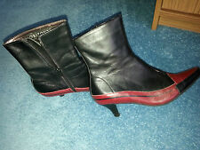 Ankle boots red and black by orizonte