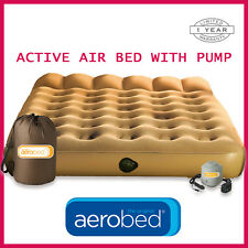 Aerobed Active Air Bed Inflatable Mattress Bed with Pump - Queen
