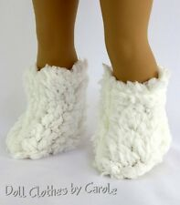 """White Furry Knit Boots fit 18"""" American Girl - Clothes - Shoes"""