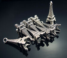 FREE 20PCS Crafts for Eiffel Tower Tibetan silver Findings Pendant Beads 22mm