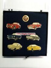 Fiat genuine coupe 8v 1600 2300 dino 850 nuovo pin badge logo set