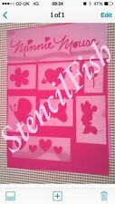 Minnie Mouse Stencil Pack Set Face Template Paint Craft Fabric  Air Brush Girls