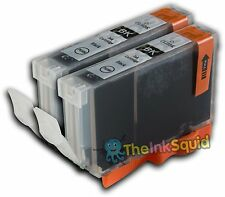 2 Black Ink Cartridge for Canon Pixma iP6700D CLI-8Bk