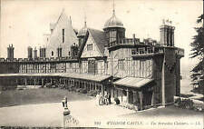 Windsor Castle. The Horseshoe Cloisters by LL / Levy # 923. Black & White.