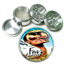 Hunter S Thompson Fear and Loathing Metal Silver Aluminum Grinder D54 63mm Herb