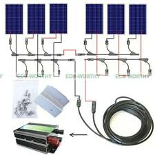 600W Solar Panel Complete Kit: 6x100Watt Solar Module for Home Off Grid System