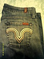 7 Seven For All Mankind jeans Kate Straight Leg in Caribbean Foil Pocket Sz 25