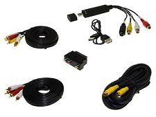Audio Video Grabber DIGITALIZZAZIONE USB 2.0 Cinch Stick SCART Adattatore Cavo Set