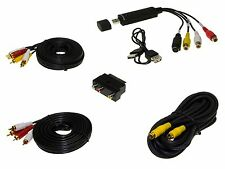 Audio Video Grabber Digitalisierung USB 2.0 Cinch Stick Scart Adapter Kabel Set