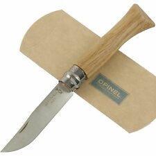 OPINEL No. 6 Oak Wood Handle Knife Lock New France Safety Lock Ring 00981 3 5/8""