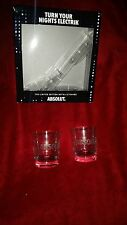 absolut vodka cups tumbler glass frosted logo new limited edition box 2015