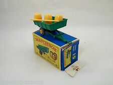 Matchbox Lesney # 51 Rare Tipping Trailer Version pneus gris Neuf/boîte (#MBB)