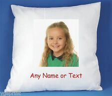 YOUR PHOTO AND/OR TEXT PERSONALISED LUXURY SOFT SATIN CUSHION COVER FAST POSTAGE
