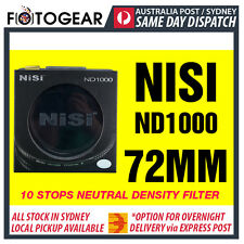 NISI Pro ND1000 Ultra Thin 10 Stops Neutral Density Filter ND400 72mm Hoya