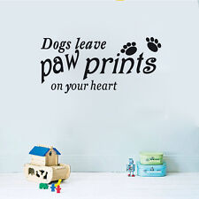 Dogs Leave Paw Prints on Your Heart Wall Sticker Decal Vinyl Wall Art Transfer