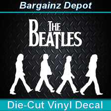 .. Vinyl Decal .. THE BEATLES ...Abbey Road .. Car Laptop Sticker Vinyl Decal