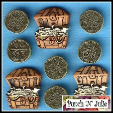 TREASURE - Chest Gold Coins Pirates Cornwall Novelty Dress It Up Craft Buttons